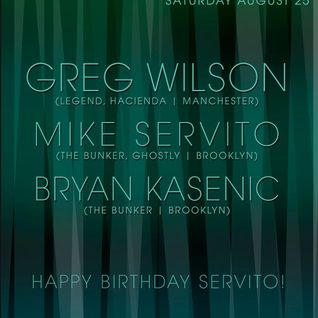 Greg Wilson - Live @ The Bunker Club, Brooklyn, NYC (26-08-2012)