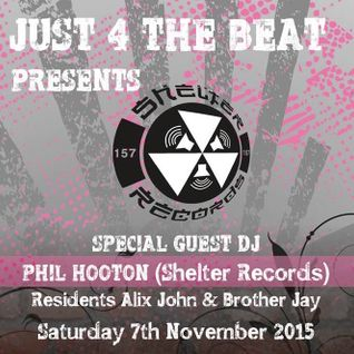 Phil Hooton (Shelter Records) for JUST 4 THE BEAT