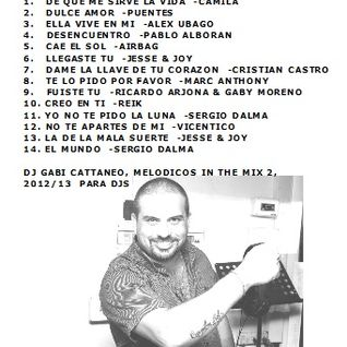 BALADAS EN ESPAÑOL, LENTOS MELODICOS 2012-2013 VOL. 2 -DJ GABI CATTANEO
