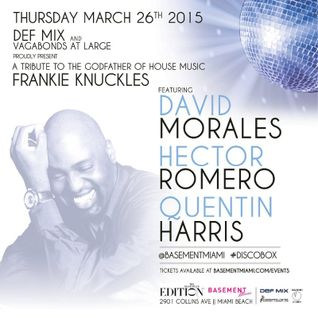 David Morales - Live @ Tribute To Frankie Knuckles, Basement Club (Miami) - 26.04.2015