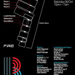 Maxime Dangles - Live @ Bedrock Anniversary, Fire (London) - 06.10.2012