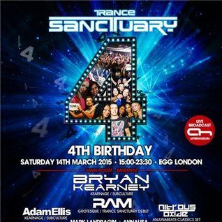 Adam Ellis @ Live , Trancesanctuary 4th Birthday @ Egg, London UK (14-March-2015)