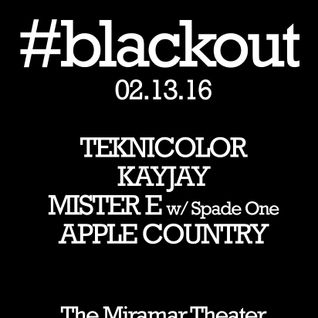 Live Blackout Miramar Theater 02-13-16
