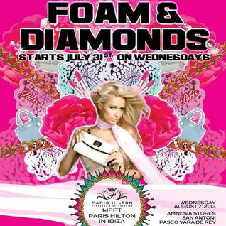 Paris Hilton - Foam & Diamonds @ Amnesia Ibiza 2013