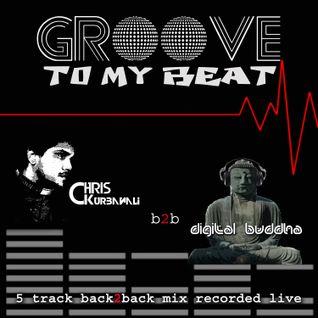 GROOVE 2 MY BEAT - digit@l buddha vs Chris Kurbanali 5 trk Back 2 Back Live Mix