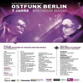 Patrick Lindsey @ Ostfunk Berlin 7 Jahre Pre-Party - Tresor/Globus Berlin - 12.11.2010