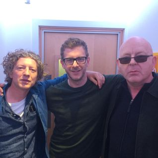 Andy Bush with Alan McGee and John Power