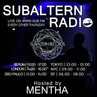 Mentha - Subaltern Radio 23/06/2016 on SUB.FM