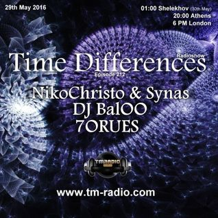 NikoChristo & Synas - Guest Mix - Time Differences 212 (29th May 2016) on TM-Radio