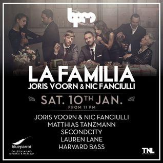 JORIS VOORN & NIC FANCIULLI - LA FAMILIA @ BLUE PARROT - THE BPM FESTIVAL 2015 - 11 ENE 2015