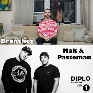 Diplo & Friends on BBC Radio 1 Ft Branchez plus Mak and Pasteman 12/22/13