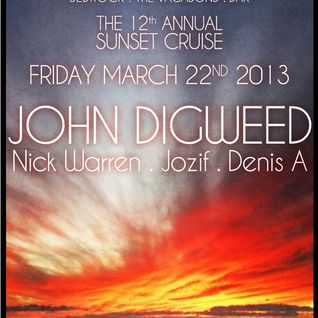 John Digweed, Nick Warren, Jozif & Denis A @ The 12th Annual Sunset Cruise (WMC, Miami) 22-Mar-2013