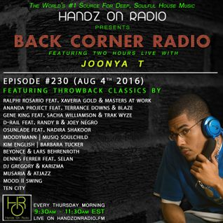 BACK CORNER RADIO: Episode #230 #THROWBACK EDITION (Aug 4th 2016)