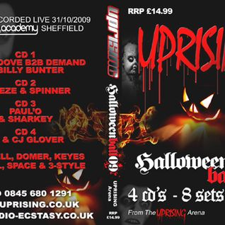 uprising halloween ball 31.10.09  dj breeze & spinner mcs domer & 3 style