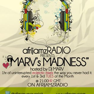 Marv's Madness   www.afrijamzradio.com   May 8, 2012 Live Set