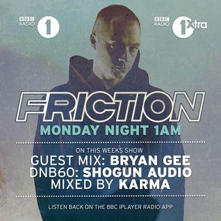 Bryan Gee - Guest Mix 2016 - Friction - BBC Radio 1
