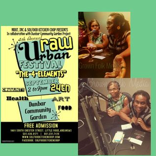 Guest host today! Kelley isaButterfly, Marie Amaya and the 4th Annual Urban Raw Festival! ! #Solid