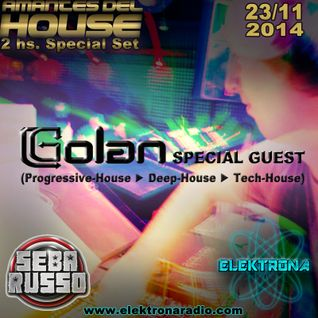 DJ Golan Special Guest ELEKTRONA Radio 23-11-2014 (Deep-House & Progressive-House)