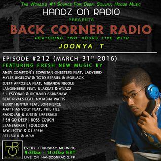 BACK CORNER RADIO: Episode #212 (March 31st 2016)