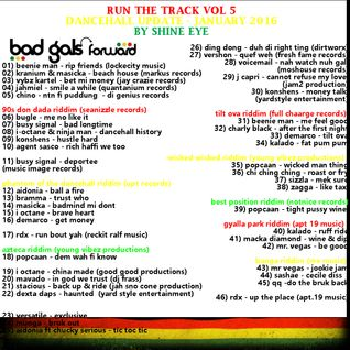 run the track vol 5... dancehall update january 2016