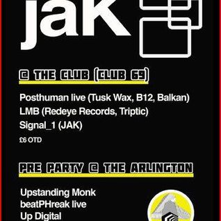 JAK PRE PARTY AT THE ARLINGTON - UP DIGITAL