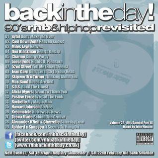 BackInTheDay! 90's Anthems Volume 22