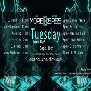 More Bass Tuesday Turn Up September 20th 2016 (Vol 7)