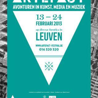 Sterrenplaten 8 februari 2013 - Artefact-festival 2013