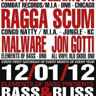 Ragga Scum Live @ Bass & Bliss (STL) 12-01-12