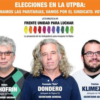 "Entrevista Fernando ""Tato"" Dondero - UTPBA - Mandale Fruta viernes 19hs x www.sindialradio.com.ar"