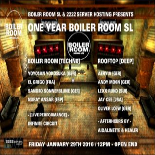 El Grego @ ONE YEAR BOILER ROOM SL