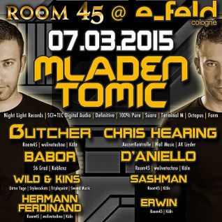 Mladen Tomic Live at Room45, E-Feld, Cologne, Germany, 07.03.2015.