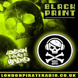 dj black print tech house mix live londonpirateradio 26/9/16