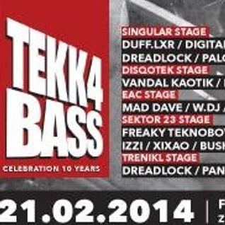 W.Dj @ TEKK4BASS,Celebration 10 Years, Positive Vibrations Stage