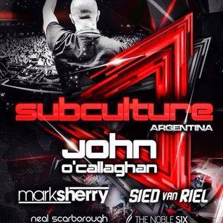 John O'Callaghan - Live @ Subculture, Mandarine Park (Buenos Aires) - 12.07.2014