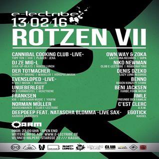 Dj Ze MigL @ Club e-lectribe Rotzen VII - A.R.M. Kassel - 13.02.2016