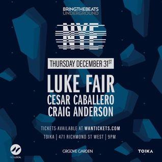 Luke Fair – bring the beats NYE 2016