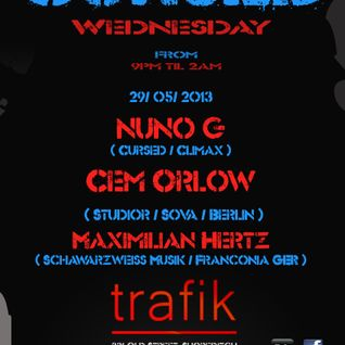 010 LIVE: Cursed with @The_NunoG @ maximilian hertz ( schwarzweiss musik - GER ) - Join us @TrafikBa