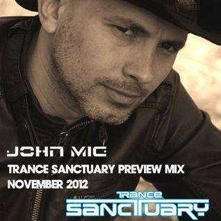 Trance Sanctuary Preview Mix by John Mig November 2012