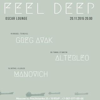Manovich - Feel Deep [Live in @OscarLounge 2015-11-20]
