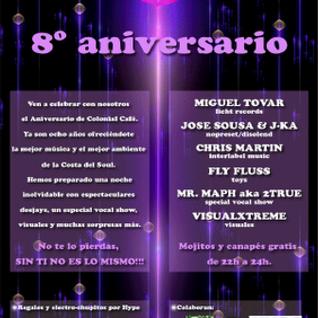 DJ Miguel Tovar - 8º Aniversario Colonial Café Marbella