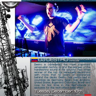 DJ DESTRO @Amsterdam, Holanda. Tech-affecT show in XT3 Techno Radio