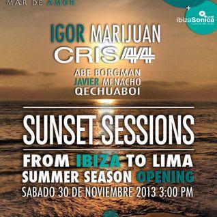 puraSonica presenta CALA SUNSET SESSIONS (Lima, Peru) - DJ IGOR MARIJUAN