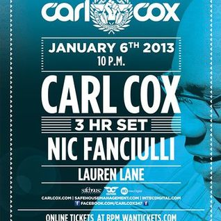 The BPM Festival / Carl Cox @ Blue Parrot / 2013.Jan.6th / Ibiza Sonica