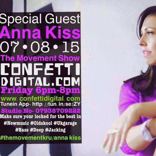 Anna Kiss live on The Movement Show ConfettiDigital.com
