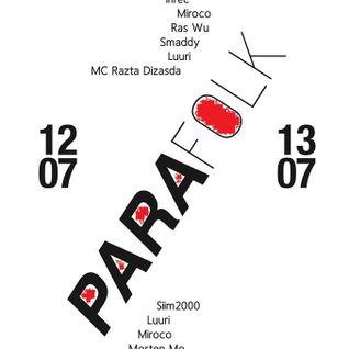 Miroco @ PARAfolk Saturday night gig 13july2013 @ p6rgu