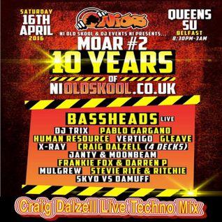Craig Dalzell Live @ Queens S.U Belfast 16.04.16 (Techno Mix)