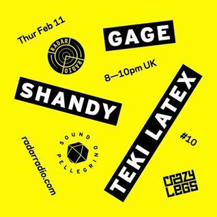 Crazylegs On Radar #10 - Teki Latex, Gage & Shandy
