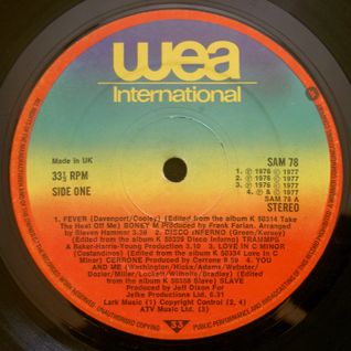 GREG WILSON PRESENTS THE ORIGINAL BRITISH MIXES - WEA DJ SAMPLER (SAM 78) 1977