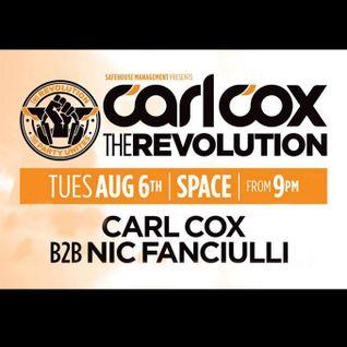 Nic Fanciulli b2b Carl Cox - Live @ Space,The Revolution (Ibiza) - 06.08.2013